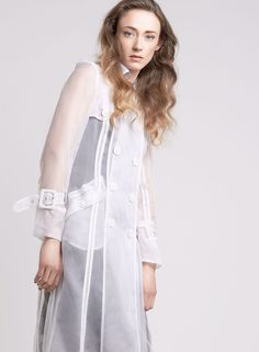 White is the color! Spring collection 2016 _ Long trench coat _ Tenax woman collection _ fast fashion _ Made in Italy