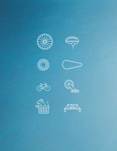 """Bike Icons"" on Designspiration"
