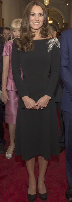 Kate Middleton looks gorgeous in this Jenny Packham LBD!
