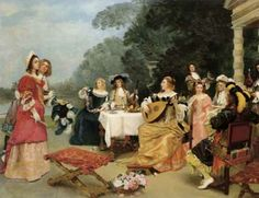 The recital, Gustave Jacquet (1846-1909)