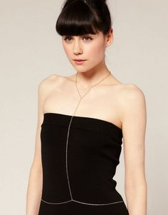 XL421 Fashion sexy golden plated body chains necklace female body chain necklace for women fine jewelry.