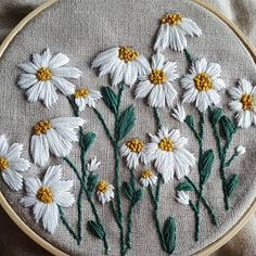 PDF DIGITAL Pattern Wild Daisies DIY - Thread Unraveled - Beginner Embroidery Pattern,Customize apparel with embroidery - how it works Your own personal style and self-fulfillment through style have never played a better position than t. Floral Embroidery Patterns, Simple Embroidery, Hand Embroidery Stitches, Crewel Embroidery, Embroidery Hoop Art, Hand Embroidery Designs, Beginner Embroidery, Machine Embroidery, Hand Stitching