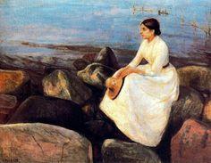 'Noche de verano'  Edvard Munch.