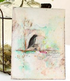 Mixed media tutorial for journal pages