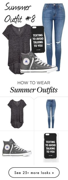 """Summer Outfit #8"" by zalanea05coles on Polyvore featuring H&M, Topshop, Converse and Jac Vanek"