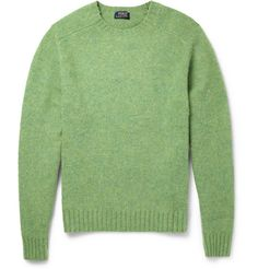 Polo Ralph Lauren Suede Elbow Patch Brushed Knitted-Wool Sweater | MR PORTER