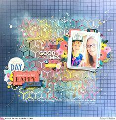 Paige Evans DT Project - Pick-Me-Up collection; cut file by Paige Evans (Faux Flower Background); Shimmerz Paints on background