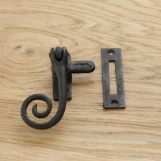 """Rat Tail 12/"""" Window Stay in Pewter Finish Cast Iron Monkey 21"""
