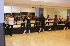 Pottruck Studios 305 and 414 have plenty of barre space to continue your ballet training.