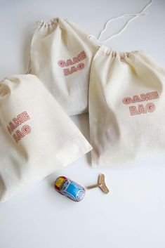 Aesthetic Nest: Party: Arcade Birthday Favor Bags (Printables)