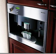 Built-In Stainless Steel Espresso Machine. The Miele Coffee System
