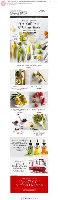 Williams-Sonoma: сочный креатив со свежими фруктами в красках демонстрирует…