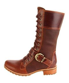Take a look at this Medium Brown Bethel Buckle Mid Boot - Women by Timberland on #zulily today!