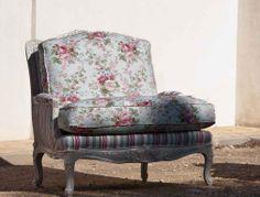 Sillón tapizado con telas estampadas modelo: 1238 COUNTRY