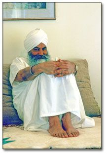 Yogi Bhajan in one of his mischievous moods.  Grateful to have been his direct student for so many years.