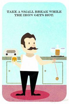 Un peu de tenue - Illustration - Ironing Guide 03