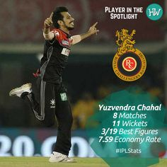 Our Player in the Spotlight for Royal Challengers Bangalore is Yuzvendra Chahal! He has been taking wickets for #RCB consistently! #IPL #IPL2016 #Cricket #KKRvRCB