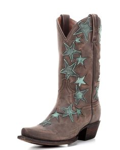 <p>Add rhythm to your soul with the Country Star Cowgirl Boot by Colt Ford! Green stars dance all over for irresistible flair. All-leather construction makes this a durable, long-lasting and fashionable western boot. Colt Ford has pulled out all the stops for the Country Star Boot.</p>  <p>Pull on new cowgirl boots courtesy of Mr. Goodtime himself! These new classics are ready for hip hop in a honky tonk, roaring down dirt roads and having a real good time.</p>    <p>Every Colt Ford women's…