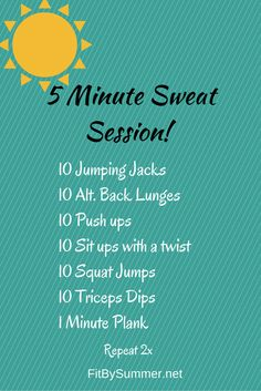 Break a sweat with this no equipment needed and no excuses accepted workout!