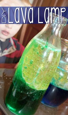 Make a lava lamp with the kids