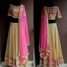 Sangeet lehenga by #PritiSahni #bigindianwedding #indianwedding #indiandesigner #indiandesigners #sangeet #mehendi #bride