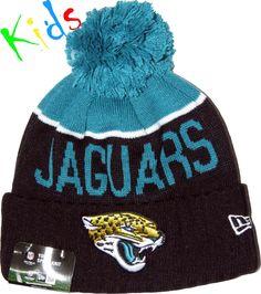 d03b4c41376 Jacksonville Jaguars New Era Kids NFL Sport Knit Bobble Hat (Ages 4 - 10  Years)