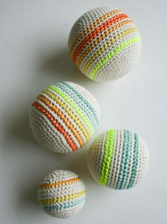 Whit's Knits: Crocheted Balls - The Purl Bee - Knitting Crochet Sewing Embroidery Crafts Patterns and Ideas!