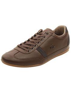 Lacoste Mens Misano 37 Sneakers in Dark Brown
