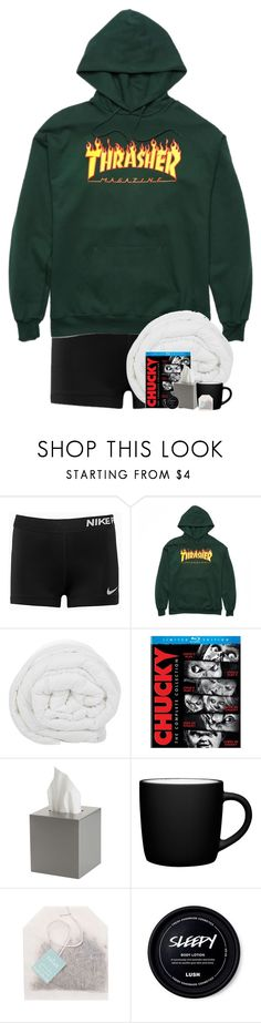 """""""I'm fellin' good right now"""" by diisturbed ❤ liked on Polyvore featuring NIKE, The Fine Bedding Company, CB2, John Lewis and Paper Source"""