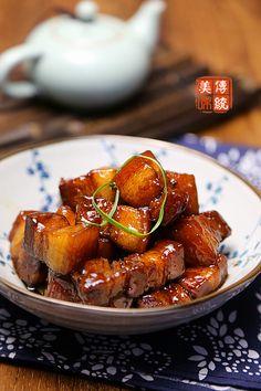 【啤酒紅燒肉】 beer braised pork belly