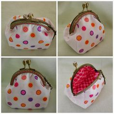 Coin purse tutorial and free pattern for 8cm purse frame