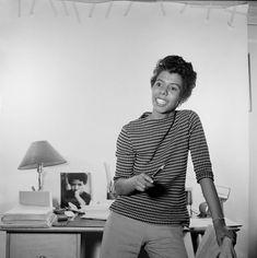 Lorraine Hansberry Lorraine Hansberry, History Icon, Black Leaders, Love Warriors, Vintage Black Glamour, Girl Fights, Gone Girl, Social Change, Black History Month