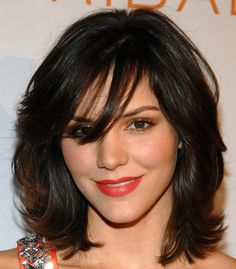 Lyds would look FANTASTIC with this cut...but she'd always have her bangs in her face, I fear, LOL Katharine McPhee Medium Layered Cut - Katharine McPhee Hair - StyleBistro