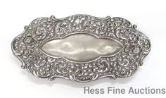 Scarce Cowell Hubbard Cleveland Ohio Sterling Silver Vanity Trinket Tray Dish #CowellHubbard