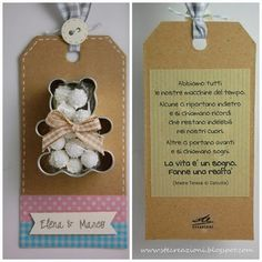 scrapbooking idea for a gift ♥ Baby Crafts, Diy And Crafts, Crafts For Kids, Bomboniere Ideas, Wedding Favors, Wedding Gifts, Baby Event, Happy Birthday Baby, Candy Favors