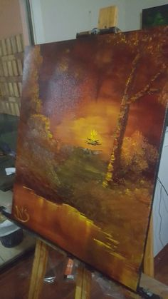 Warm place by @kevinv2067 #fire #painting