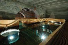 Stunning Thermalbad Spa built in Old Hurlimann Brewery in Zurich, Switzerland by Ushi Tamborriello