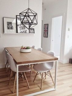 Creating small dining rooms can sometimes be a trouble. Today, Modern Dining Tables has selected 10 small dining table ideas you gonna love. Dining Room Design, Dining Room Table, Small Dining Table Apartment, Dining Sets, Simple Dining Table, Dining Decor, Kitchen Tables, Ikea White Dining Table, Ikea Dinning Room