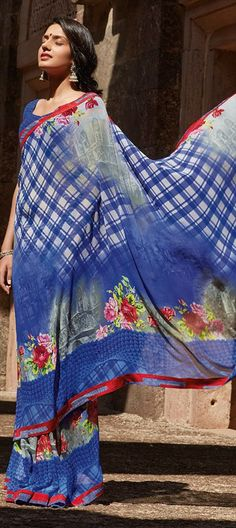 136623: #Prints #floral #saree