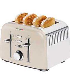 Breville VTT501 4 Slice Aurora Toaster - Cream.