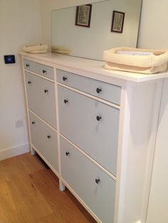 Wedded Hemnes Shoe Cabinets [Twined and Painted] - IKEA Hackers