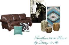 Southwestern Honor by Sophia Fox Rustic Western Decor, Rustic Chic, Western Style, Southwestern Home, Southwest Decor, Desert Homes, Equestrian, Favorite Color, Westerns