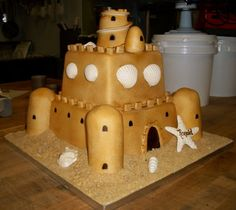 Non-traditional wedding cakes can range from dying the icing to creating a sandcastle!