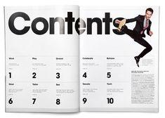 Table of contents magazine layout design, magazine layouts, editorial Editorial Layout, Editorial Design, Magazine Design, Magazine Layouts, Table Of Contents Design, Index Design, Magazine Contents, Feeds Instagram, Publication Design
