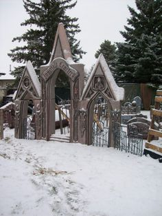 Another's cemetery: Last year I left the Bone Yard up for an extra few weeks just to see it with some snow on it