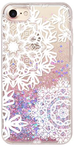 Casetify iPhone 7 Glitter Case - Flurries (Transparent) by Lisa Argyropoulos #Casetify