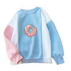 Hoodie Sweatshirts, Printed Sweatshirts, Mode Kawaii, Kawaii Girl, Kawaii Style, Trendy Hoodies, Cute Sweatshirts For Girls, Colorful Hoodies, Cheap Hoodies