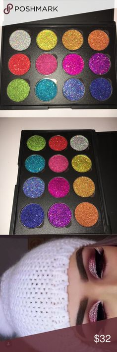🆕The Finest Collection Palette Brand new ultra fine Glitters. 12 Glitters in a plain black palette. Comes with a free Glitter primer and eyeshadow brush. Price is firm unless bundled. Makeup Eyeshadow