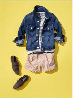 lace shorts and denim jacket for toddler girls LOVE! Gap Kids