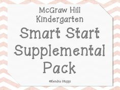 McGraw Hill Wonders -Reading At A Glance - Kindergarten from For The Love Of Kindergarten on TeachersNotebook.com (6 pages)